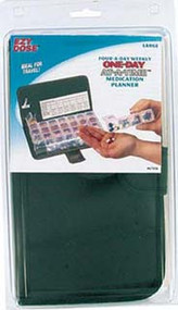 7 Day, 4 Compartments Per Day Pillbox w/ Carrying Case