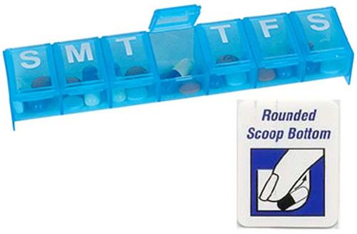 7 day one compartment per day pillbox