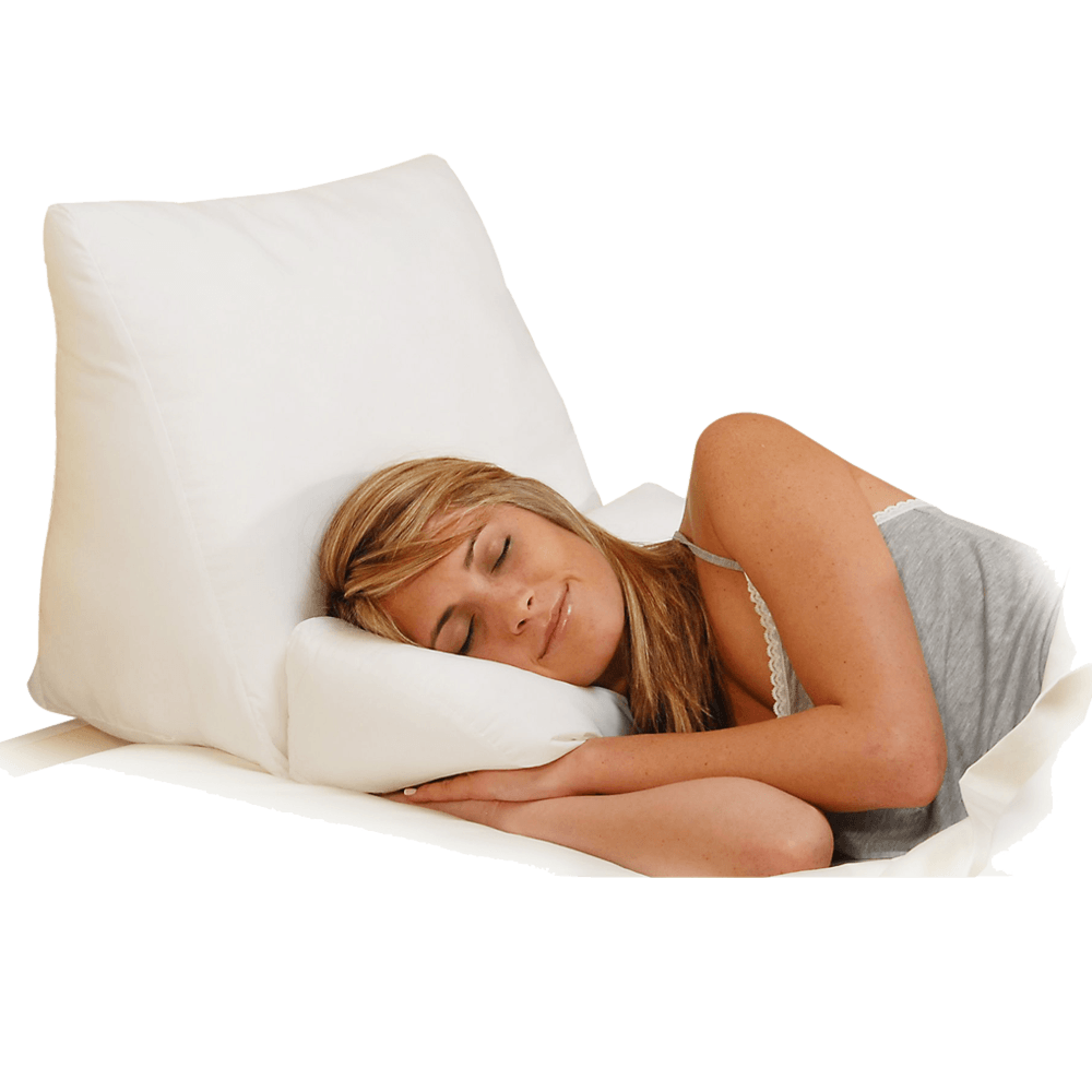 multipurpose flip 10-in-1 fiber filled bed wedge pillow