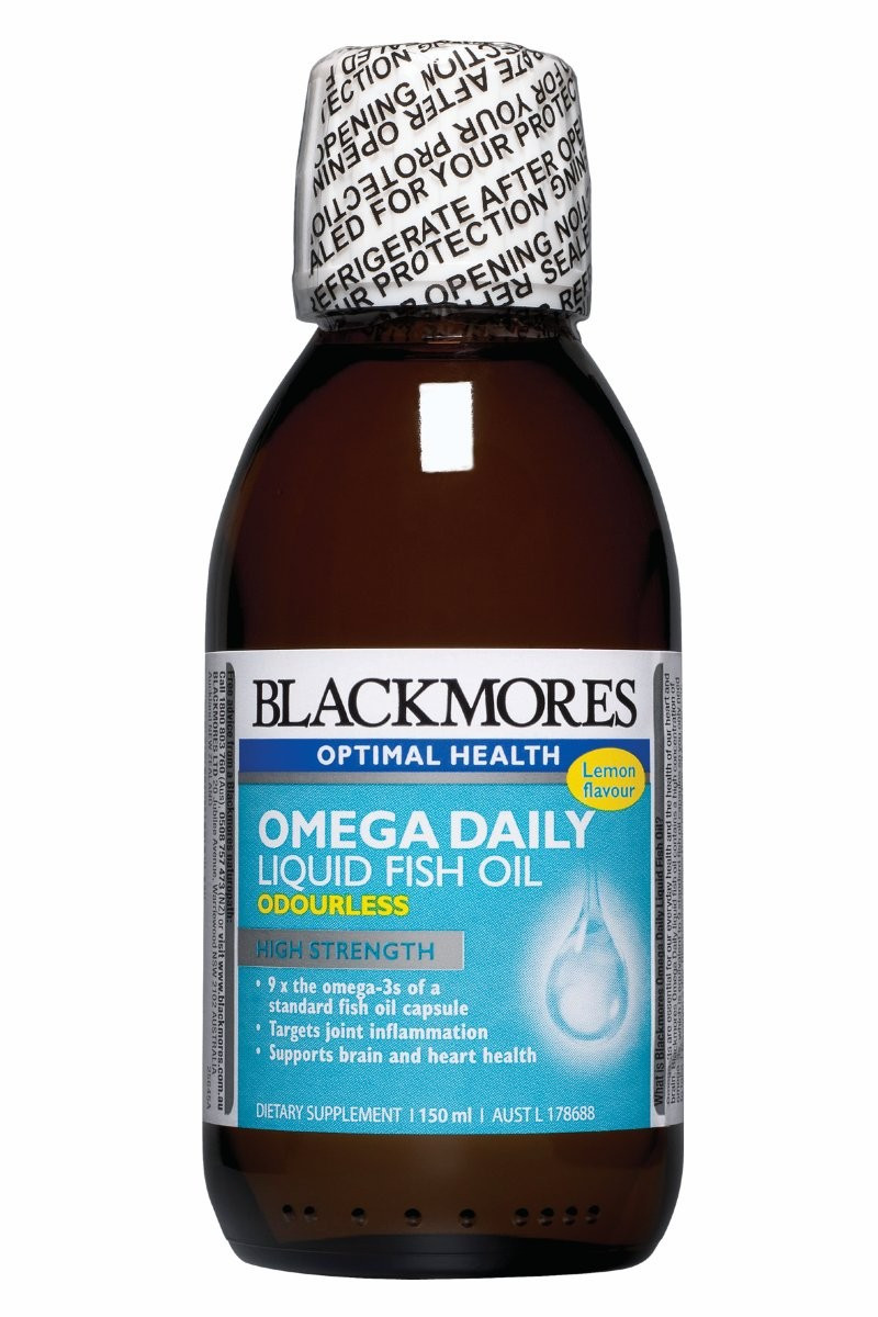 Blackmores omega daily liquid fish oil omega 3 fish oil for Daily fish oil