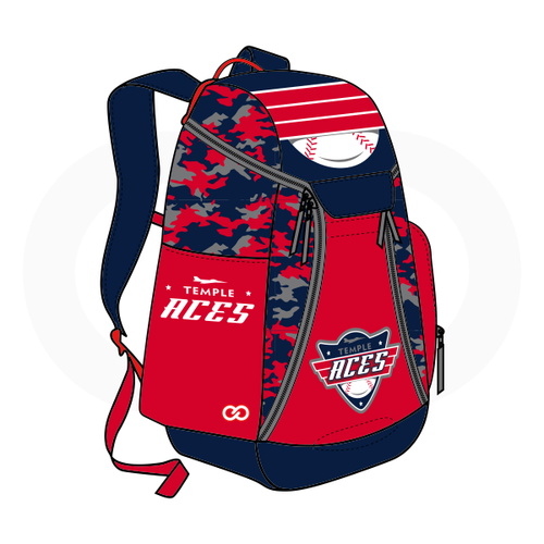 Temple Aces Backpack - Red