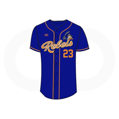 Tolsia Rebels Alternate Baseball Jersey