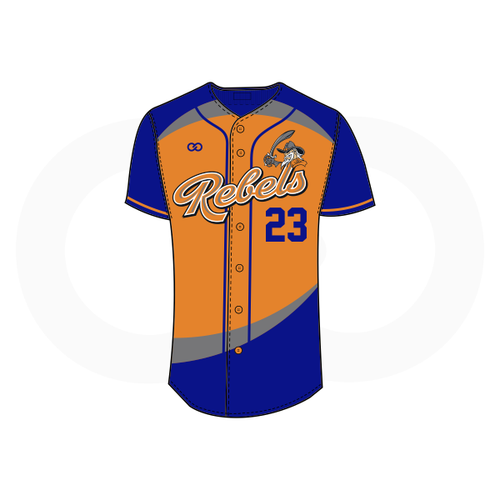 Tolsia Rebels Home Baseball Jersey