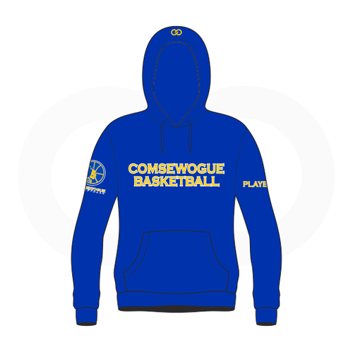 Wogue Warriors School Basketball  Sublimated Royal Blue Hoodie