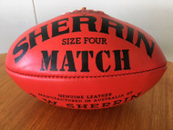 Sherrin - Match - Australian leather Size 4 Women's Sponsored by Wilson Group (Used in official VAFA Wilson women's competition)