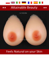 H CUP 1800gr pair MASTECTOMY SILICONE BREAST FORM REALISTIC PROSTHESIS
