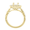 14K Rose Gold Cushion Halo Diamond Engagement Ring - Eros Style