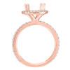 14K Rose Gold Round Halo Diamond Engagement Ring - Selene Style