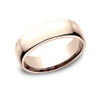Euro-Comfort-Fit Wedding Band with a High Polish Finish in a 6.5mm Width