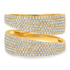 14kt Gold Multi-Row Pave Ring