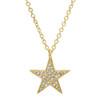 14kt Gold Pave Diamond Star Pendant