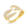 14kt Gold Pave Tendril Ring
