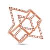 14kt Gold Linear Geometric Diamond Ring
