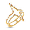 14kt Gold Double Chevron Ring