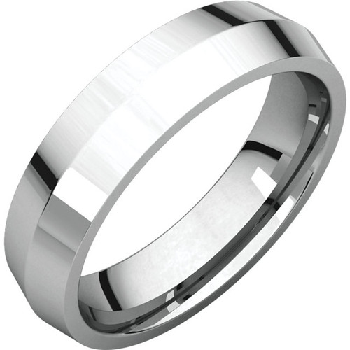 Comfort-Fit Knife Edge Wedding Band with a High Polish Finish in a 5mm Width