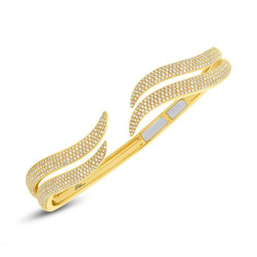 14kt Gold Pave Tendril Bracelet