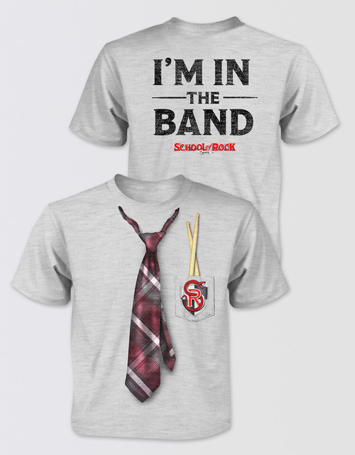 school of rock kids tie t shirt playbill uk. Black Bedroom Furniture Sets. Home Design Ideas
