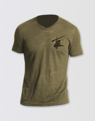 Miss Saigon Khaki V-Neck Logo T-Shirt