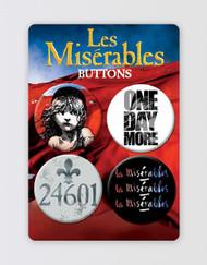 Les Miserables Button Badge Set