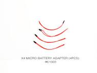 X4 MICRO BATTERY ADAPTER (4PCS)