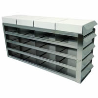 Stainless Steel Laboratory Freezer Rack with Sliding Tray Drawers for 2 Inch freezer boxes UFS-352.