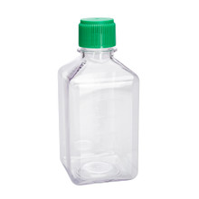 500mL Media Storage Bottles, Square, PETG, Sterile, 24/CS
