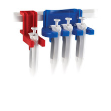 Tri-Clamp-ette® - single pipettor clamp for three pipettes, Blue