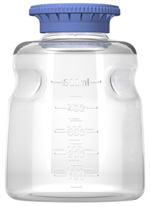 500ml PC Media Bottle, Non-Sterile, 24/CS