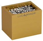 Single Cavity Bead-Block with .25L of Lab Armor Beads, Gold - for standard dry baths