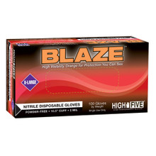 BLAZE® Nitrile Exam Gloves, Small, 100/Bx, 1000/CS