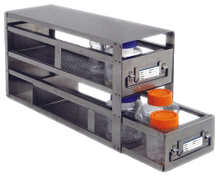 Upright freezer drawer rack for storage bottles, 2 drawers, 22 x 9 15/16 x 5 1/2