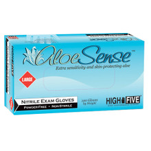 ALOE SENSE® Nitrile Exam Gloves - Small -  100/Box, 1000/CS