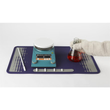 Bench protector silicone mat for the research laboratory (14 in x 23.5 in) - Purple/Grey