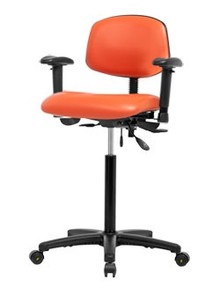 Vinyl laboratory chair - high bench height 26-35 ½""