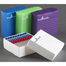 TRUE NORTH® Thin film freezer box/cryo box for microtubes - 10/PK
