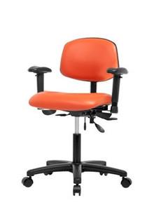 "Vinyl laboratory chair - desk height 19-24"""