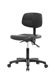 "Polyurethane laboratory chair - desk height 17-22"""