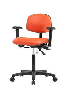 Vinyl laboratory chair -  bench height 22-29""