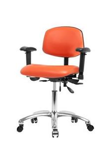 "Vinyl laboratory chair - chrome - desk height 19-24"""