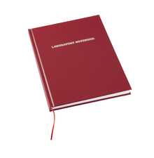 Laboratory Notebook, 200-pages, Lined, Red - Case of 12