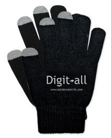 Digit-all™ gloves with capacitive finger tips