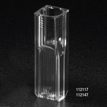Cuvette, Semi-Micro, 2.5mL, with 2 Clear Sides, PS, 500/CS