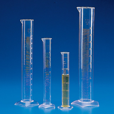 PMP graduated cylinders made of polymethylpentene