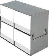 Laboratory Freezer Rack for Upright Freezers - for 15 and 50mL Tube Boxes - UFLB-22