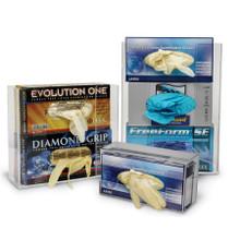2 Box Acrylic Glove Box Holder, Top Loading, Wall-Mountable, 1/EA