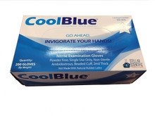 Cool Blue™ nitrile gloves, powder free, Extra Small, (2000/CS)