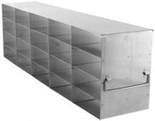 Freezer rack for 2 inch boxes - 20 boxes 26 3/4 x 8 7/8  x 5 1/2 (D x H x W) 1/EA