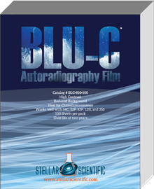 Blu-C Autoradiography Film 8x10, 100 Sheets per box