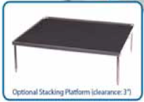 12 by 12 inch stacking platform with flat mat for Benchmark rockers/shakers