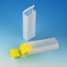 Slide Mailer, Polypropylene, Flip Top, for 5 Slides, Natural, 1000/CS